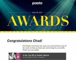 Pixoto Top 20% of week Artistic Objects 3-10-13