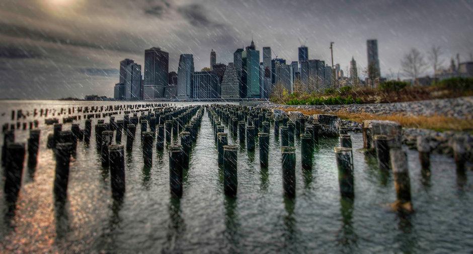 Manhattan Rainy Day, New York