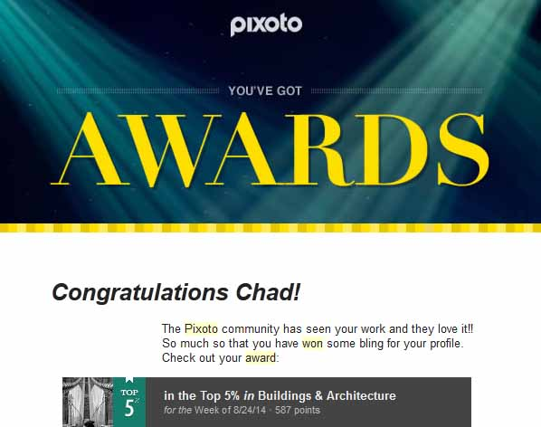 Pixoto Top 5% week Building & Architecture 8-24-14