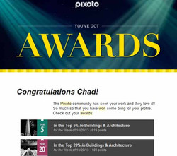 Pixoto Top 5% week Building & Architecture, Top 20% week Building & Arch 10-20-13