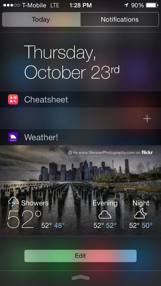 Yahoo Weather App NYC