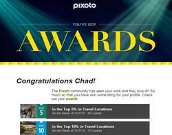 Pixoto Top 5% week Travel, Top 10% Travel Week 1-27-13