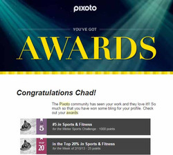 Pixoto #5 Sports & Fitness, Top 20% week Sports & Fitness 2-10-13