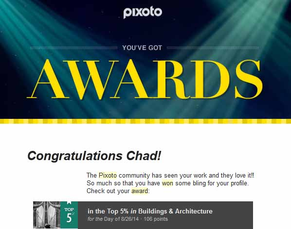 Pixoto Top 5% Day in Building & Architecture 8-26-14
