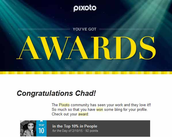 Pixoto Top 10% Day in People 2-10-15