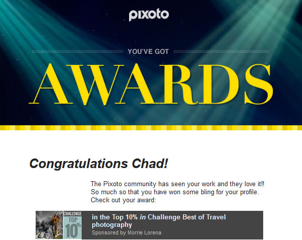 Pixoto Top 10% Challenge Best of Travel Photography