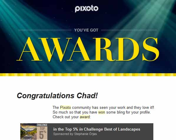 Pixoto Top 5% in Challenge Best of Landscapes 2014