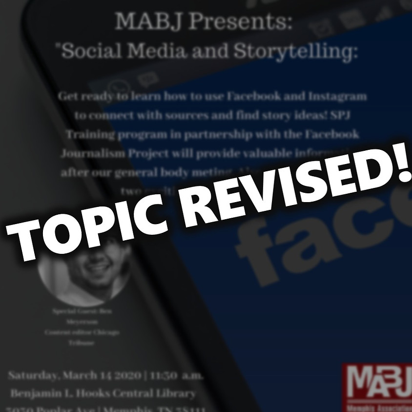 March MABJ General Body Meeting