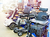 Wheelchairs-with-electric-motor-in-store