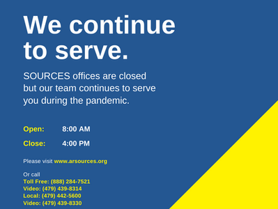SOURCES is Here for You During the Pandemic