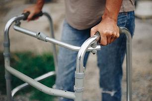 Close-up-Young-women-using-a-walker-cane