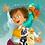 Thumbnail: Serviette de plage Zélie la Pirate pour enfants
