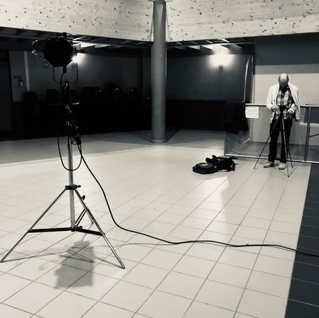 Tournage clip avec Christophe De Almeida et Aurélie Cabrel et Wery - Label Baboo Music - Studio b - 47220 Astaffort