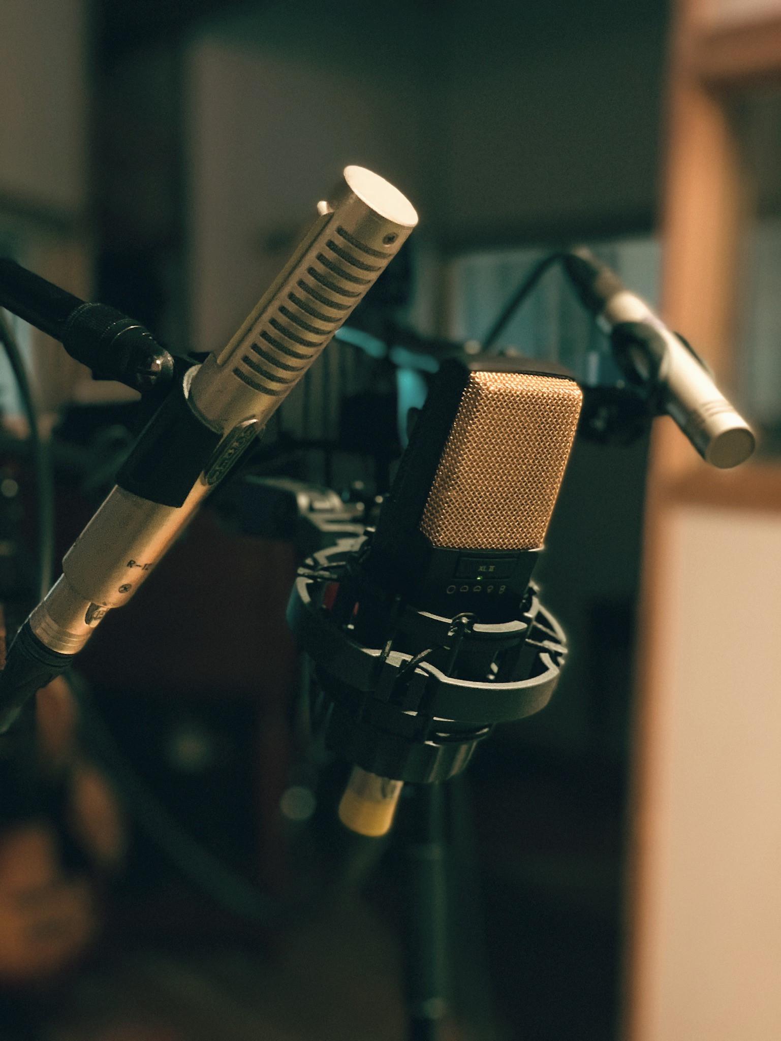 Micros d'enregistrement du Studio b
