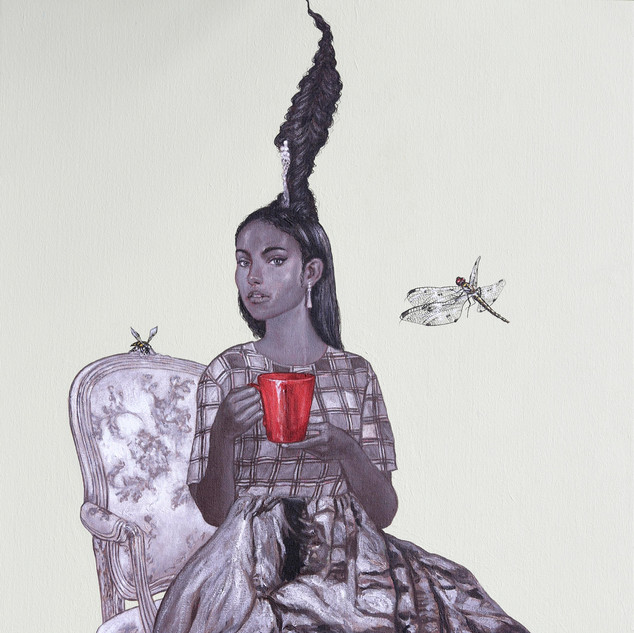 "Tea at Five Acrylic on Canvas 22"" x 32"" 2019"
