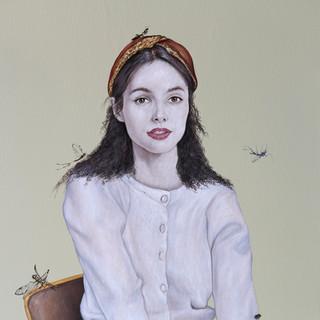 "Casual Attire III  Acrylic on Canvas 29"" x 46"" 2019"