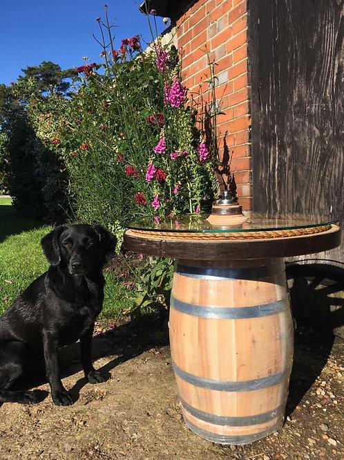 Baby Oak Barrel Cartwheel Table