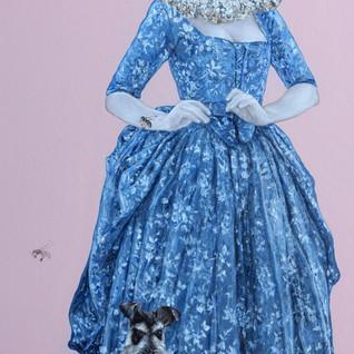"""The Blue Girl Acrylic on Canvas 25"""" x  50"""" 2020"""