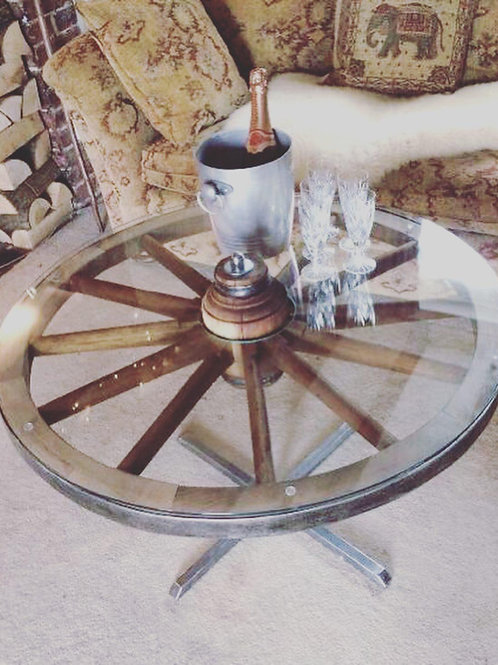 Stainless Steel Cartwheel Table