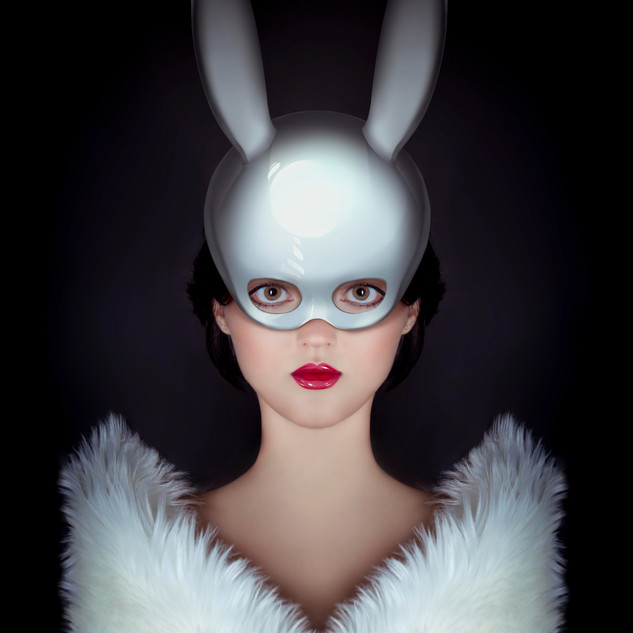 The Royal Rabbit Digital Painting Chromaluxe Aluminum Print One of a Kind
