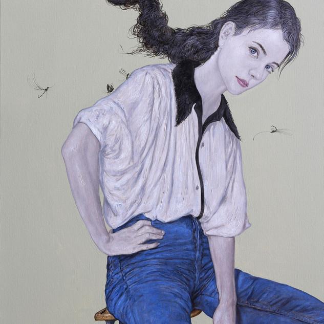 "Casual Attire I Acrylic on Canvas 28"" x 44"" 2019"