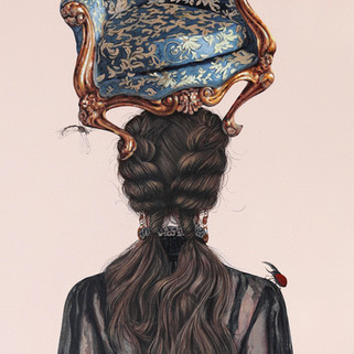 """A Style of Millinery V Acrylic on Canvas 25"""" x 48"""" 2019"""
