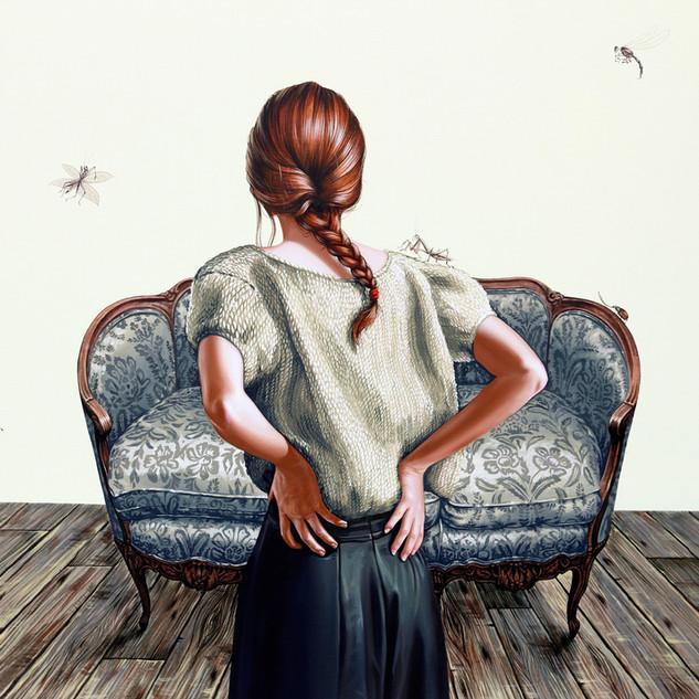 """Home Decor II Acrylic on Canvas  34"""" x 36"""" 2020"""