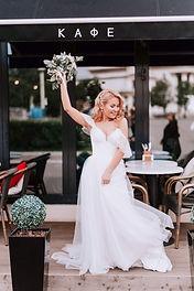 Невеста Кристина в свадебном платье Verona