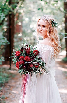 Невеста Яна в свадебном платье в стиле Бохо-Рустик Fiero
