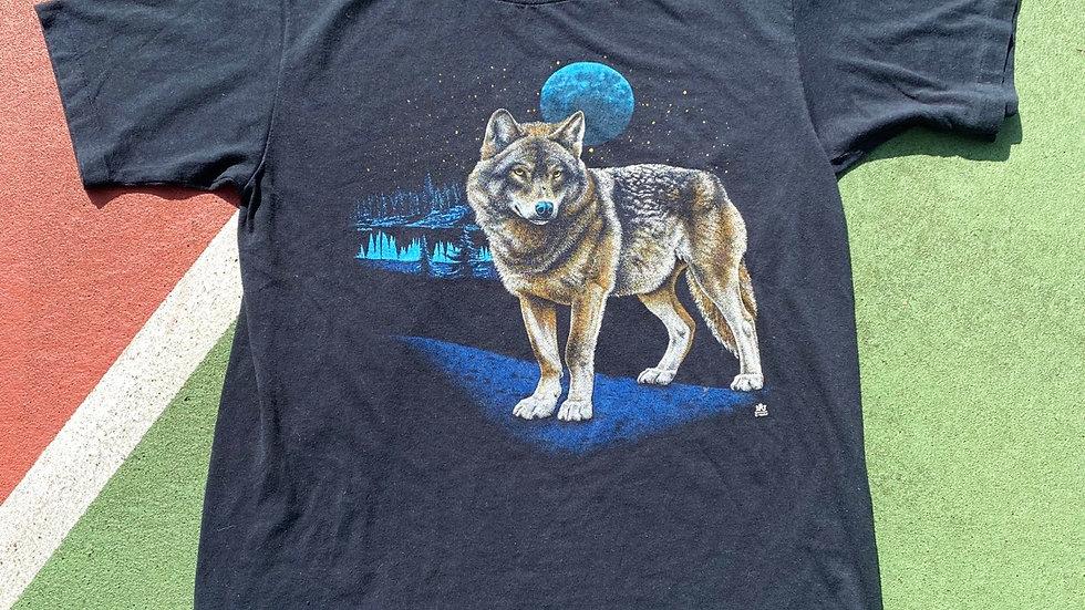 1987 Wolf And Moon Tee
