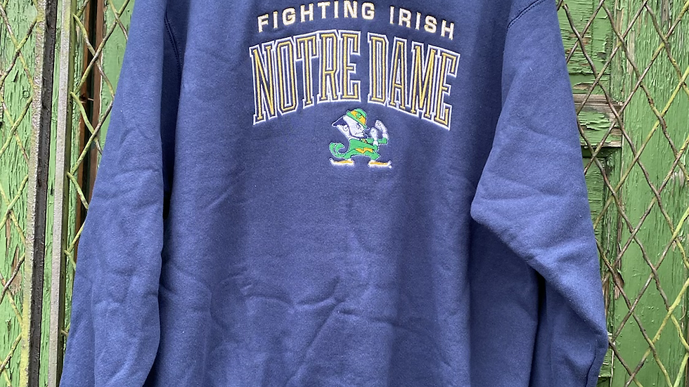 90's Notre Dame Embroidered Crewneck
