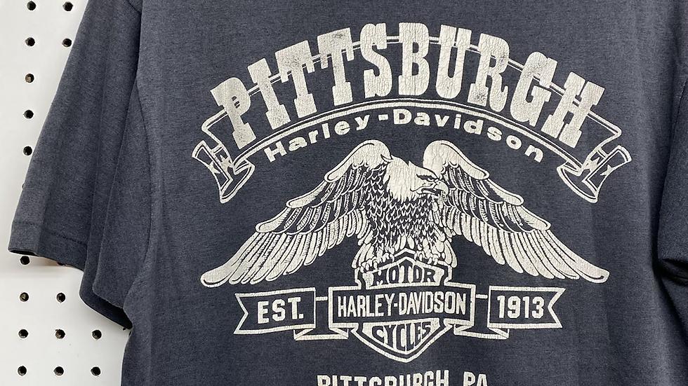 80's Pittsburgh Harley Davidson Tee