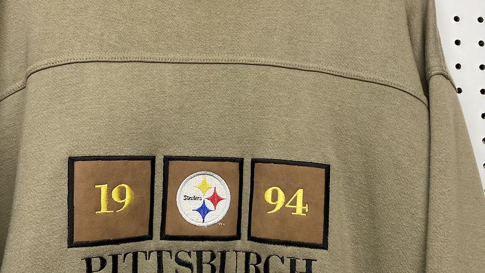 1994 Olive/Mocha Steelers Crewneck
