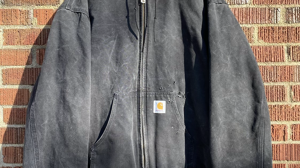 Faded & Distressed Quilted Carhartt Jacket