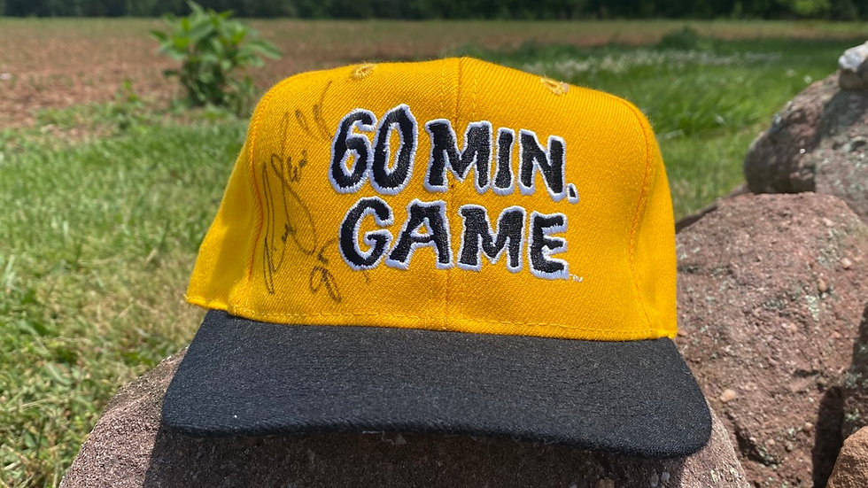 60 Minute Game Signed Hat