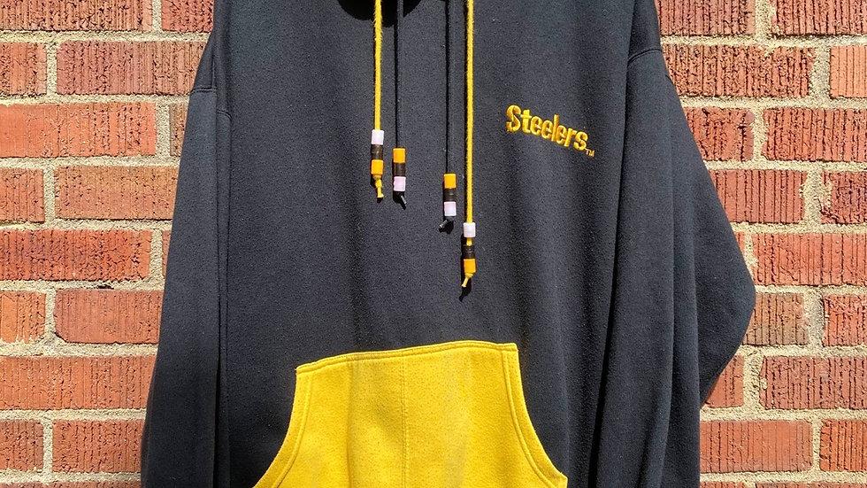 90's Starter Double Hooded Beaded Steelers Hoodie