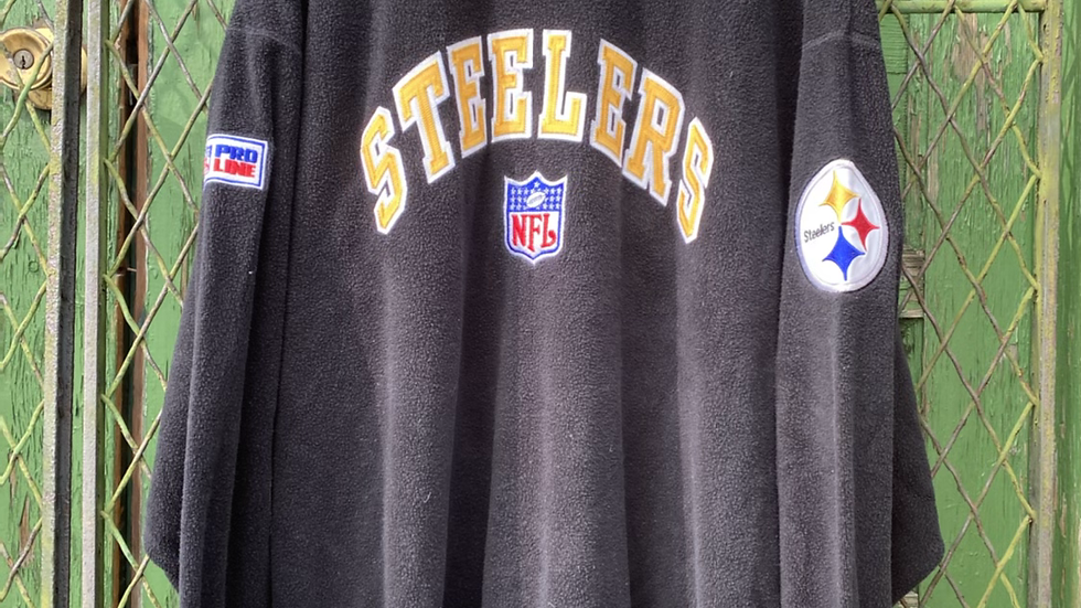 Starter Fleece Steelers Crewneck