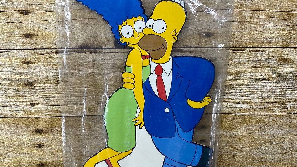 1990 Marge & Homer Simpson Standee