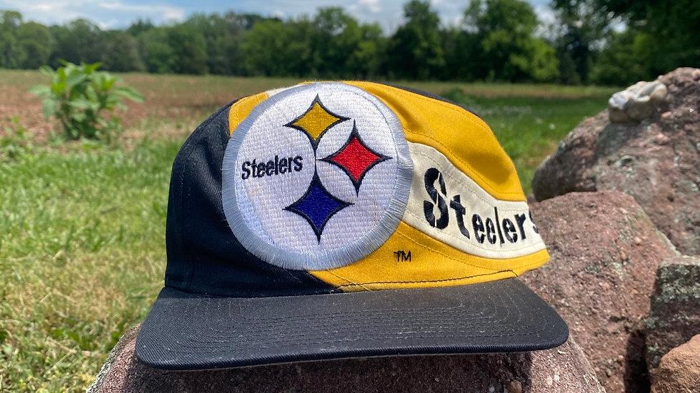 Steelers Paint Line Logo Snapback