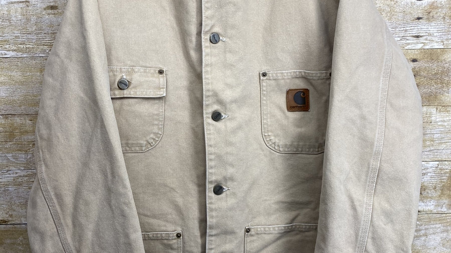 90's Light Wash Carhartt Chore Coat