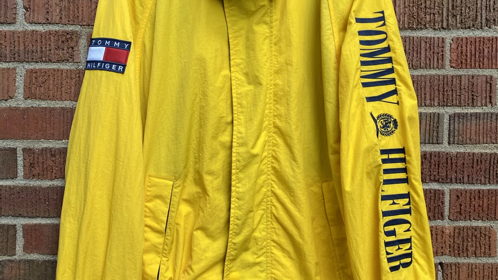 90's Tommy Spell Out Crest Windbreaker