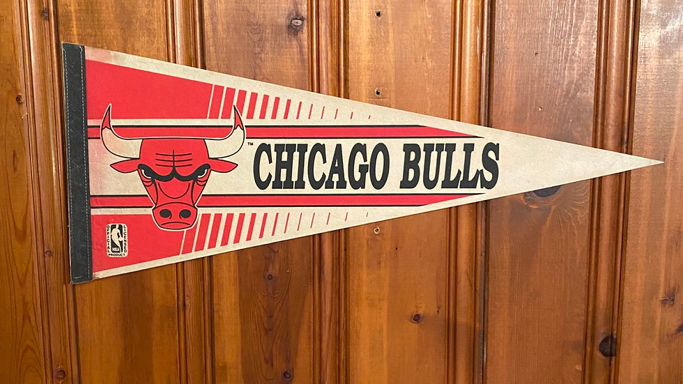 90's Chicago Bulls Pennant