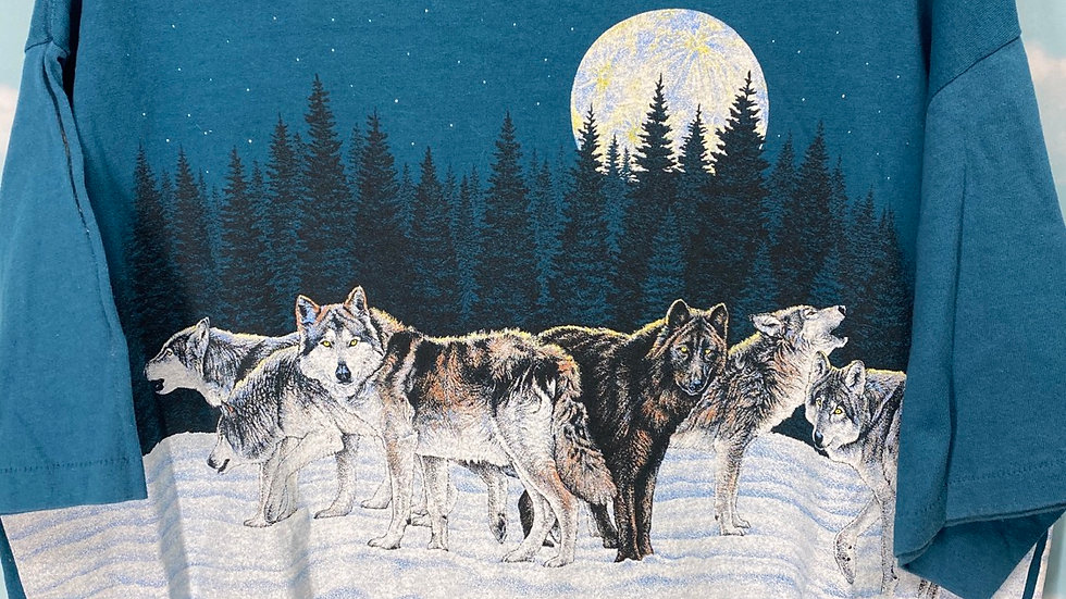 Wolf Wraparound Print Tee