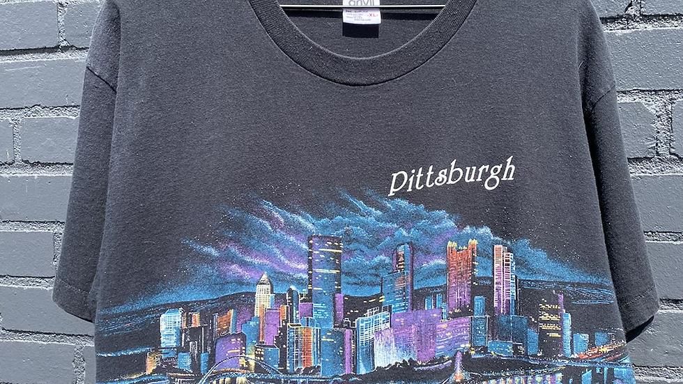 90's Pittsburgh Skyline Tee