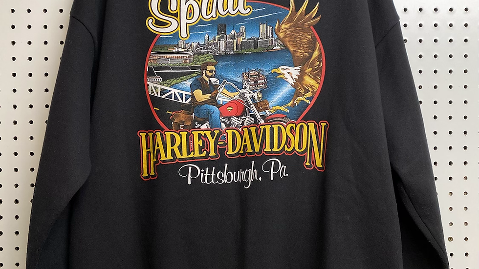 1997 Pittsburgh Harley Zip Up Crewneck