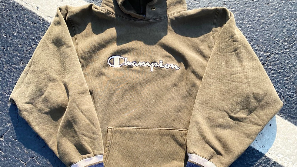 90's Olive Green Champion Hoodie