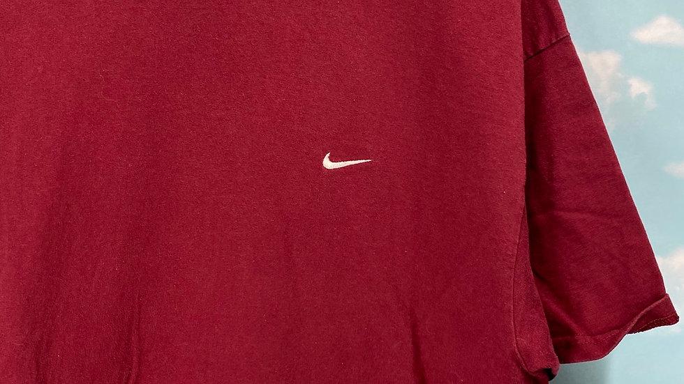 2000 Nike Mini Swoosh Burgundy Tee