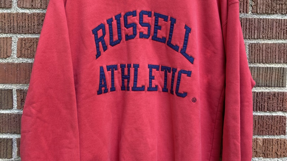 90's Russell Athletic Spellout Crewneck