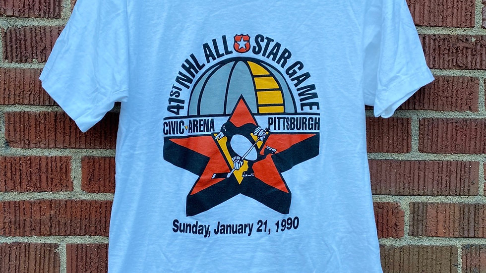 1990 Penguins All Star Game Tee