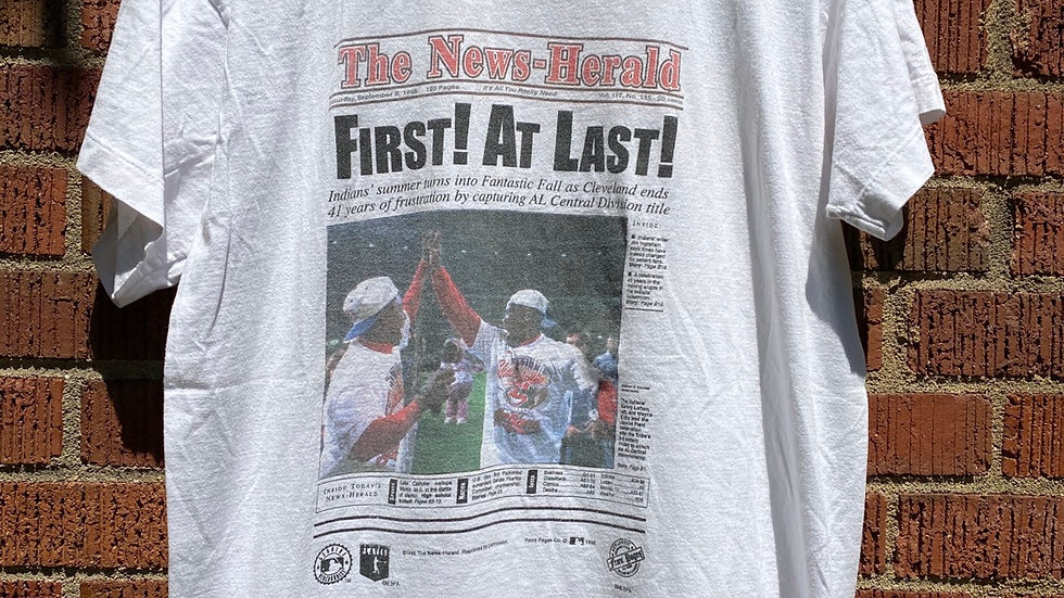 1995 First At Last Cleveland Indians Tee